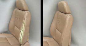 leather seat before and after repair
